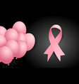 breast cancer awareness poster design vector image vector image