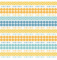 bright seamless pattern with tribal yellow vector image