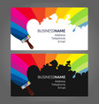 business card paint vector image vector image