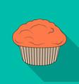 cake single icon in flat stylecake vector image vector image