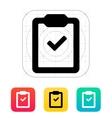 Check clipboard icon vector image
