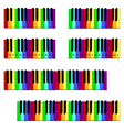 Colored piano keyboard set vector image