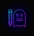 colorful ghostwriter icon vector image vector image