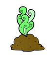 comic cartoon smelly poop vector image