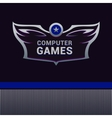 Computer Games logo vector image vector image