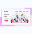 corporate party service website template vector image