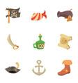 corsair icons set cartoon style vector image