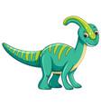 cute green dinosaur character vector image vector image