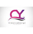 cy c y letter logo design creative icon modern vector image vector image