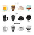 design drink and bar logo set drink vector image vector image