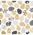 easter decorative eggs pattern seamless vector image vector image