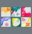 editable social banners simple web visual offers vector image