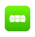 eggs in carton package icon digital green vector image