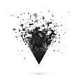 explosion effect shatter dark triangle abstract vector image vector image