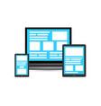 flat concept cross platform design vector image vector image