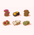 flat set of home made cookies with vector image vector image