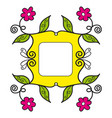 frame yellow vector image vector image