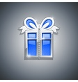 gift box jewellery decoration vector image vector image