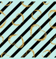 gold heart seamless pattern black-blue geometric vector image