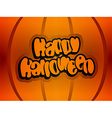 Happy halloween text lettering vector image vector image
