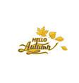 hello autumn label vector image vector image