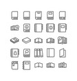 icons set books for reading on white vector image vector image