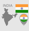india blank vector image vector image