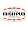 irish pub vintage sign logo vector image