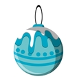 Isolated sphere of Christmas season design vector image vector image