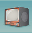 isometric retro vintage old tv placeholder frame vector image vector image