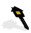 key with house on it vector image vector image