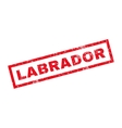 Labrador Rubber Stamp vector image vector image