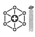 medical network icon with professional bonus vector image