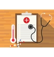 medical record health in clipboard vector image