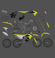 motorcycle parts bike 10eps vector image