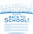 Outline Back to School Concept vector image vector image