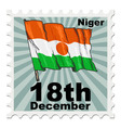 post stamp of national day of Niger vector image
