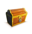 realistic icon treasure chest isolated vector image