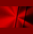 red technology background with brushed metal vector image vector image