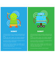 robot with smile collection vector image vector image