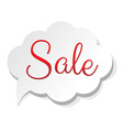 Sale Banner Cloud vector image vector image