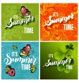 set colorful bright lettering summer vector image
