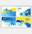 set landing page template people business service vector image vector image