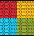 set of seamless patterns with hexagonal tiles vector image vector image