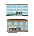 Set - two of modern buildings vector image vector image