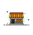 shop online market store building business flat vector image vector image