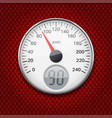 speedometer round gauge with chrome frame vector image vector image