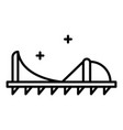 spike shoe tool icon outline style vector image