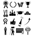 Success icons set vector image vector image