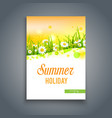 summer yellow template vector image vector image